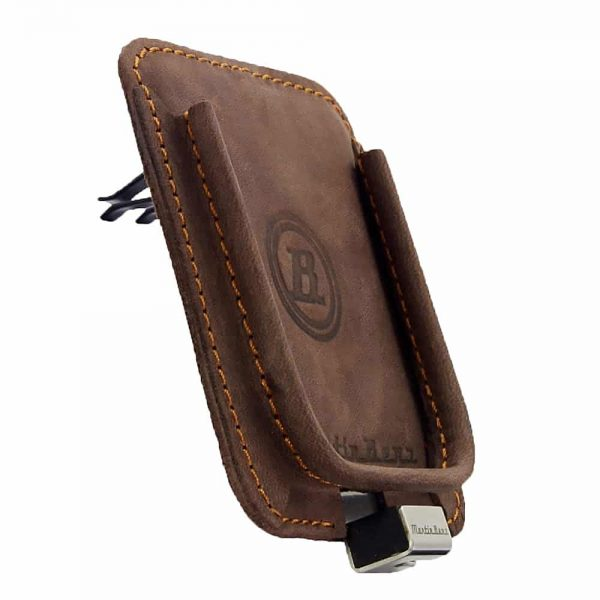 Berrolia car holder for iPhone, Size L – Chocolate Brown