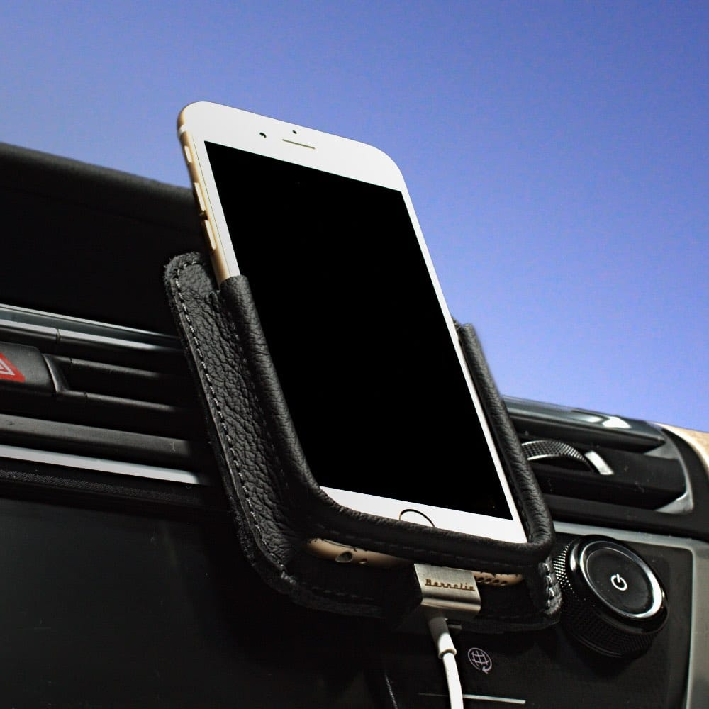 Berrolia car holder for iPhone X/Xs, iPhone 8, iPhone 7 - Black on Black